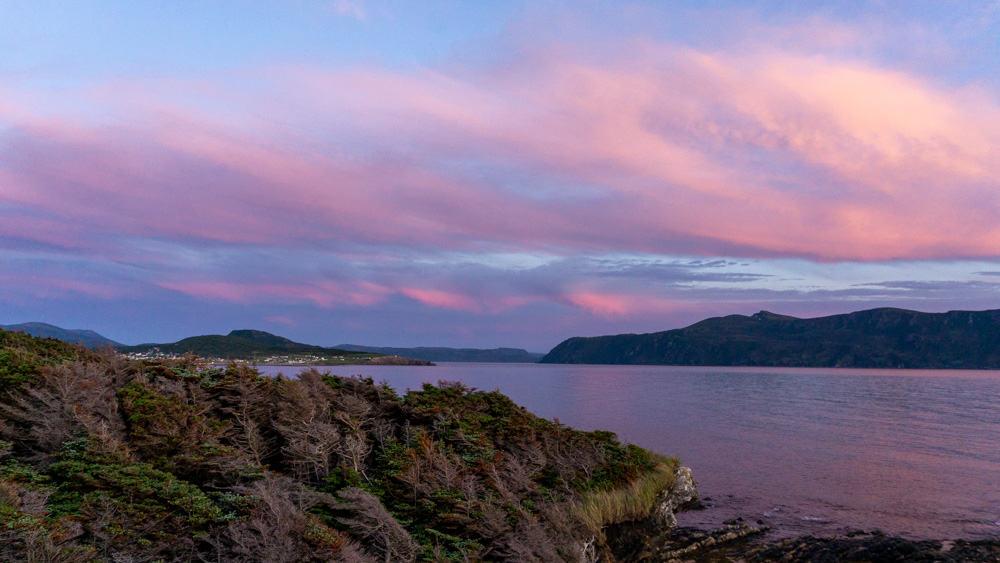 sunset gros morne national park