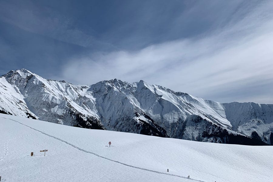 skiing on a weekend in switzerland
