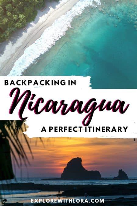 backpacking Nicaragua pin