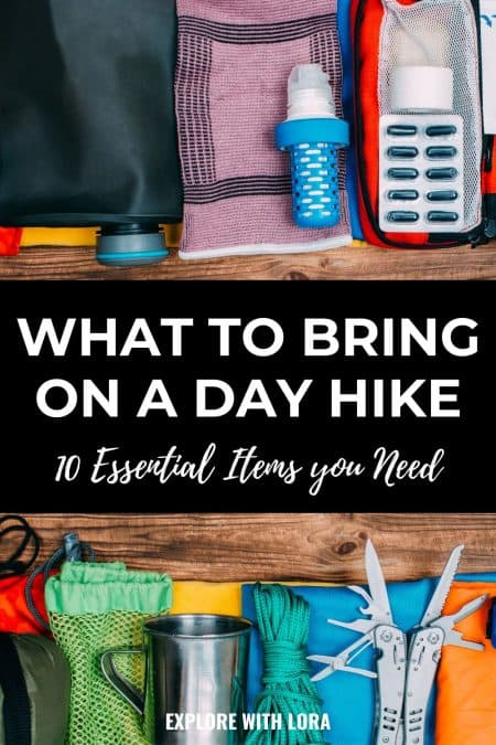 pinterest pin what to bring on a day hike