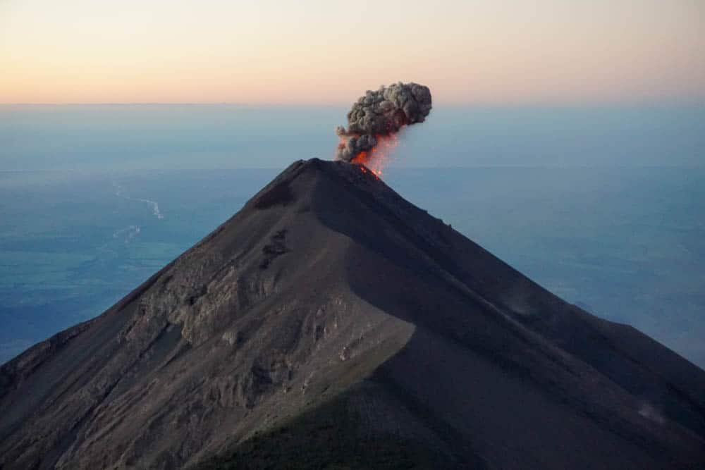 erupting volcano in guatemala