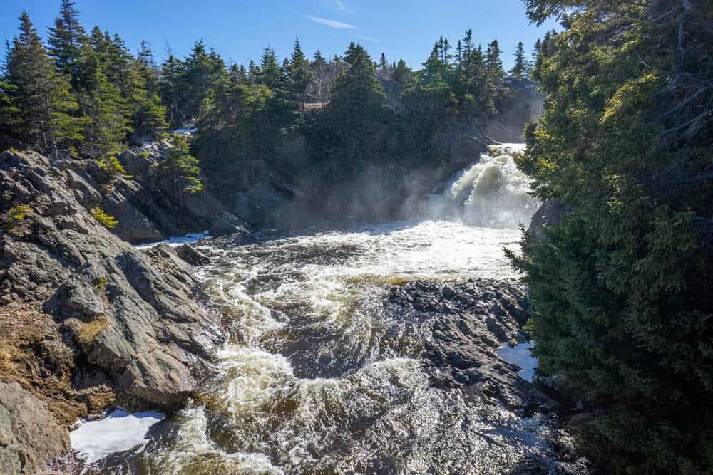 waterfall in flatrock east coast trail