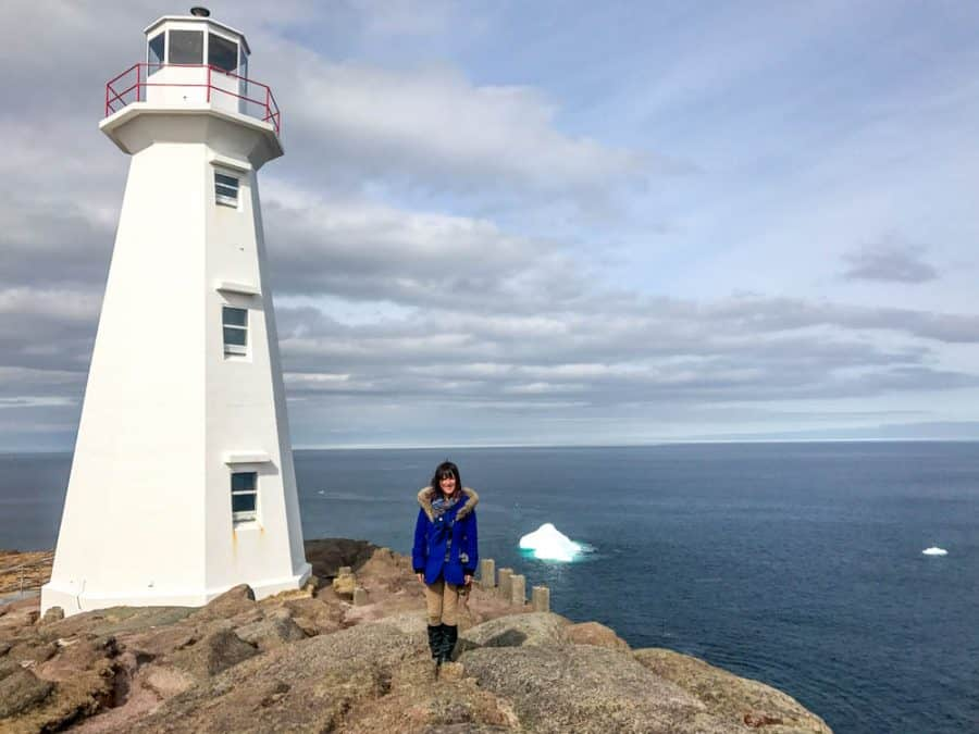 cape spear lighthouse and iceberg