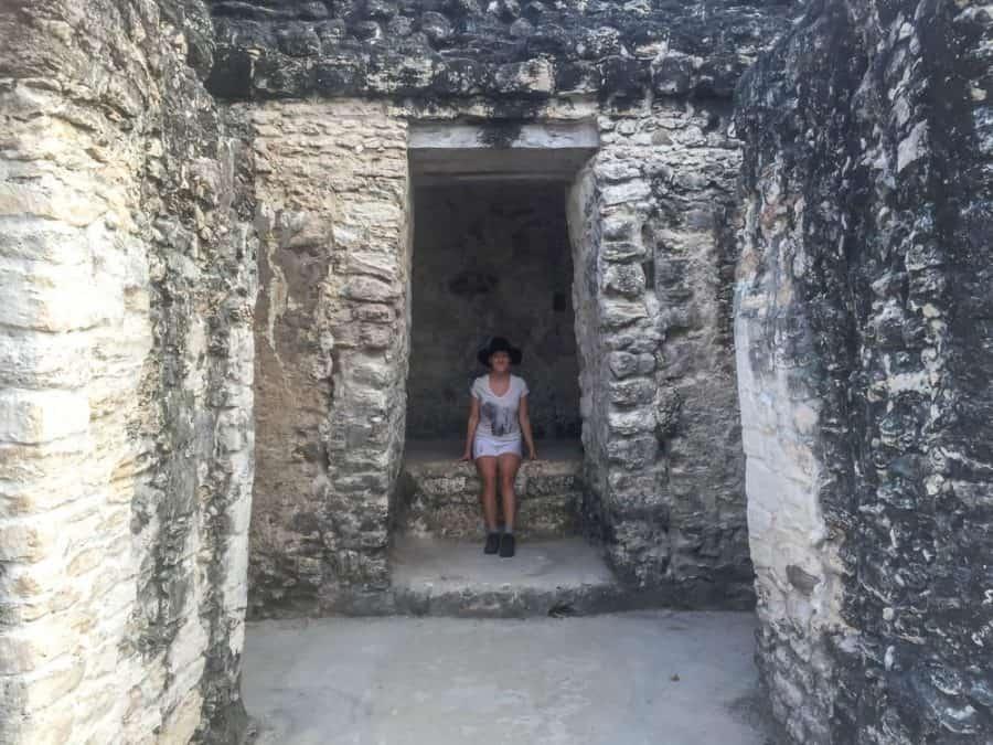 lora at tikal ruins