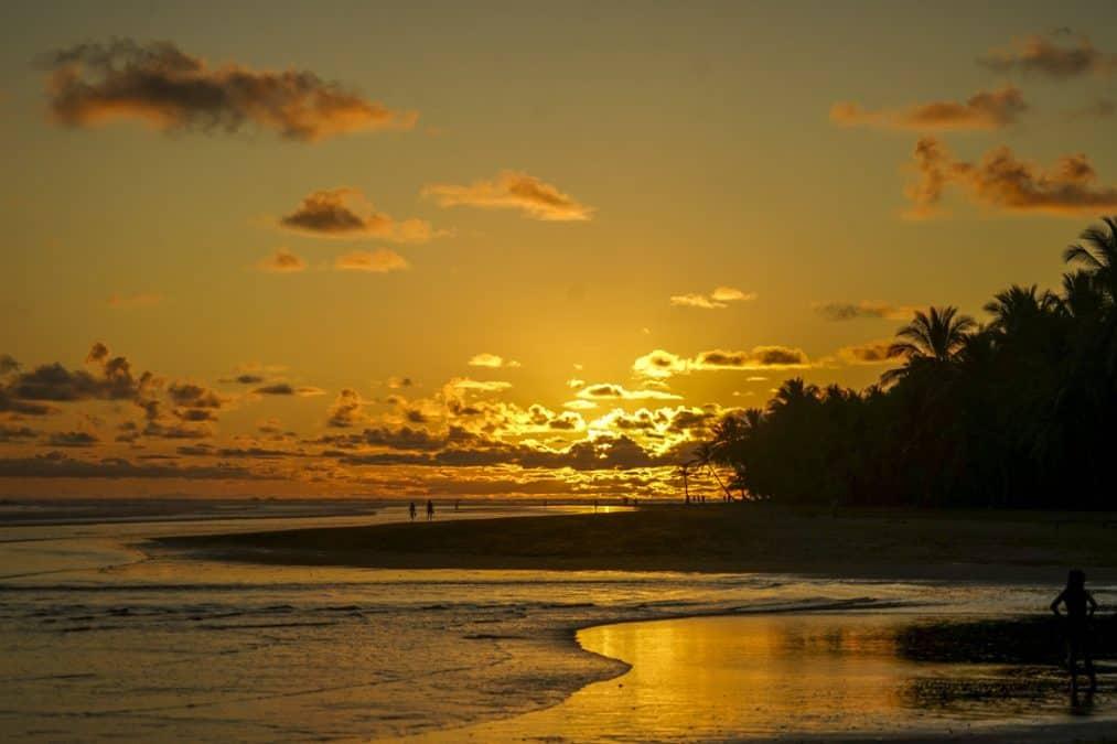 sunset in uvita costa rica