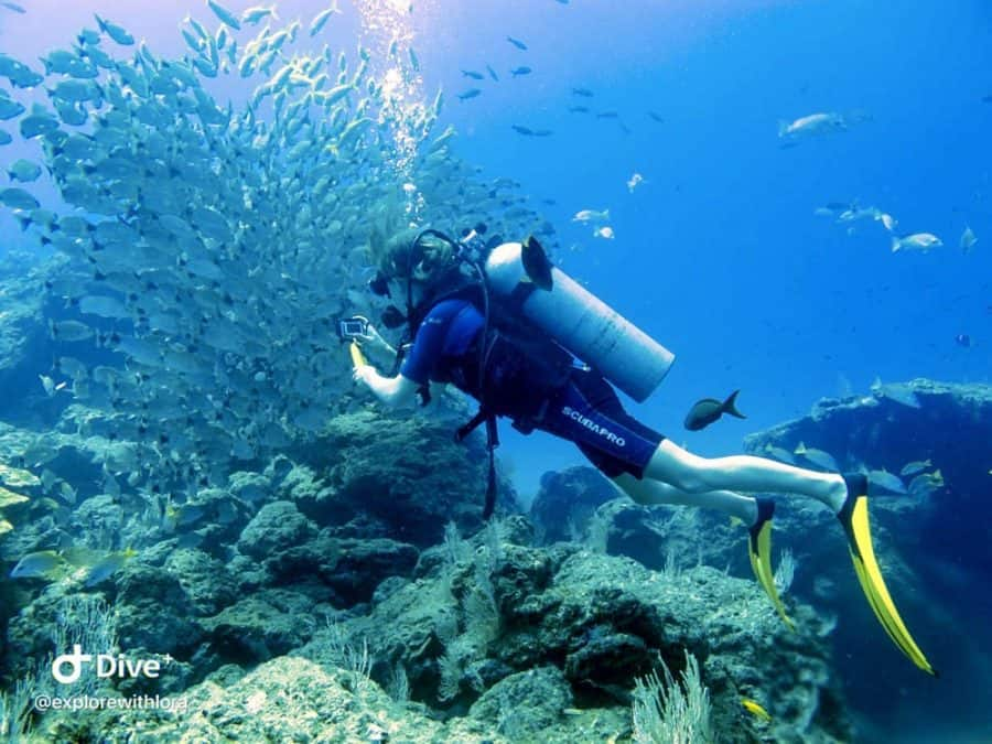 diving cano island