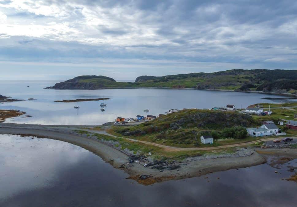 aerial view of twillingate newfoundland