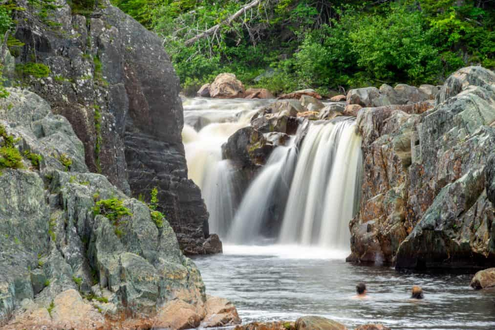 Waterfall in La Manche Provincial Park