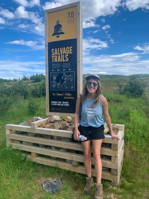 lora by salvage trail sign