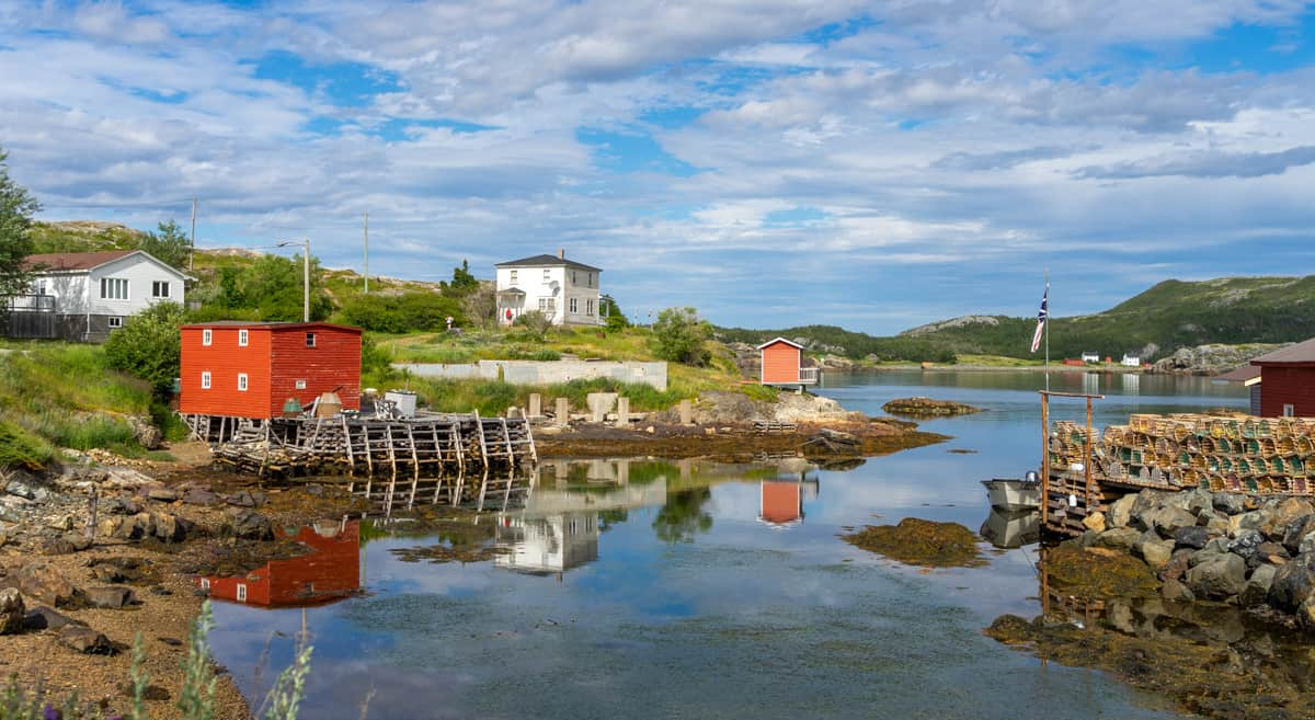 the town of salvage on the eastport peninsula newfoundand
