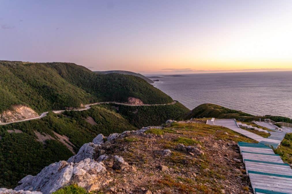 Skyline Trail Sunset, Cape Breton National Park of Canada