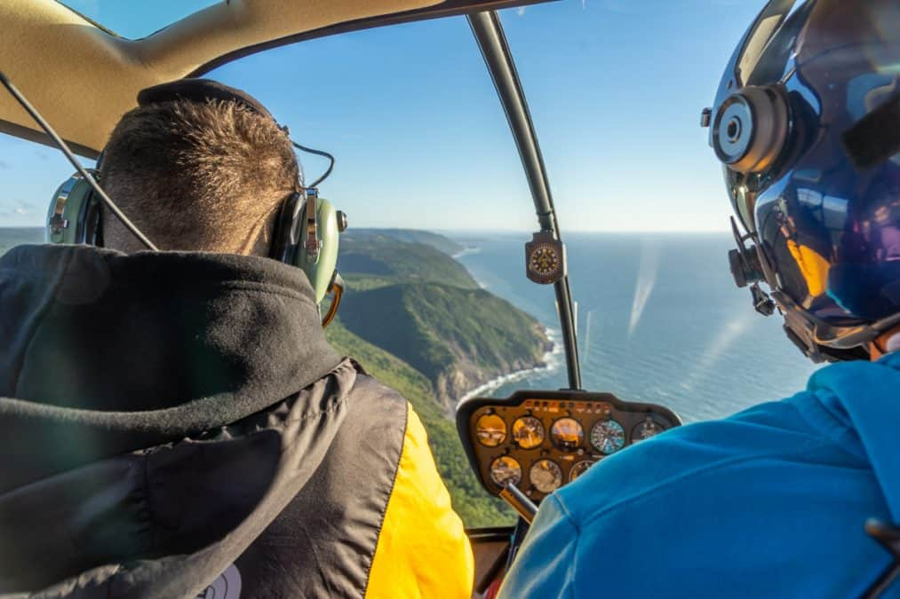 helicopter ride with celtic air over cape breton highlands national park
