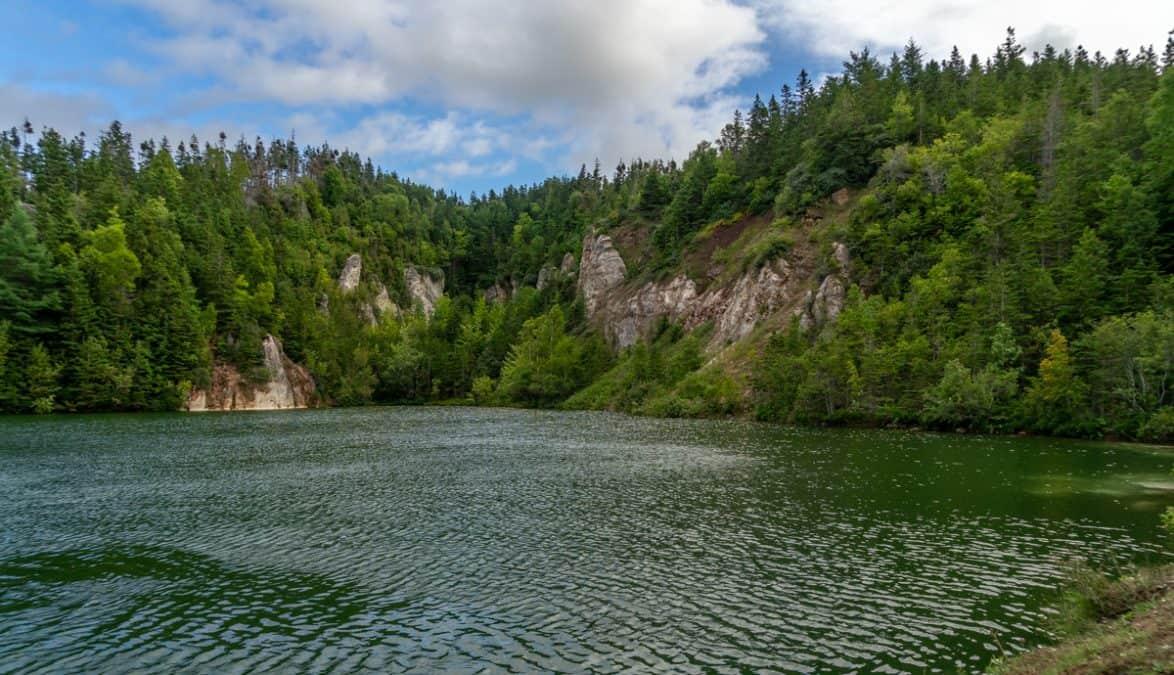 gypsum mine lake cape breton