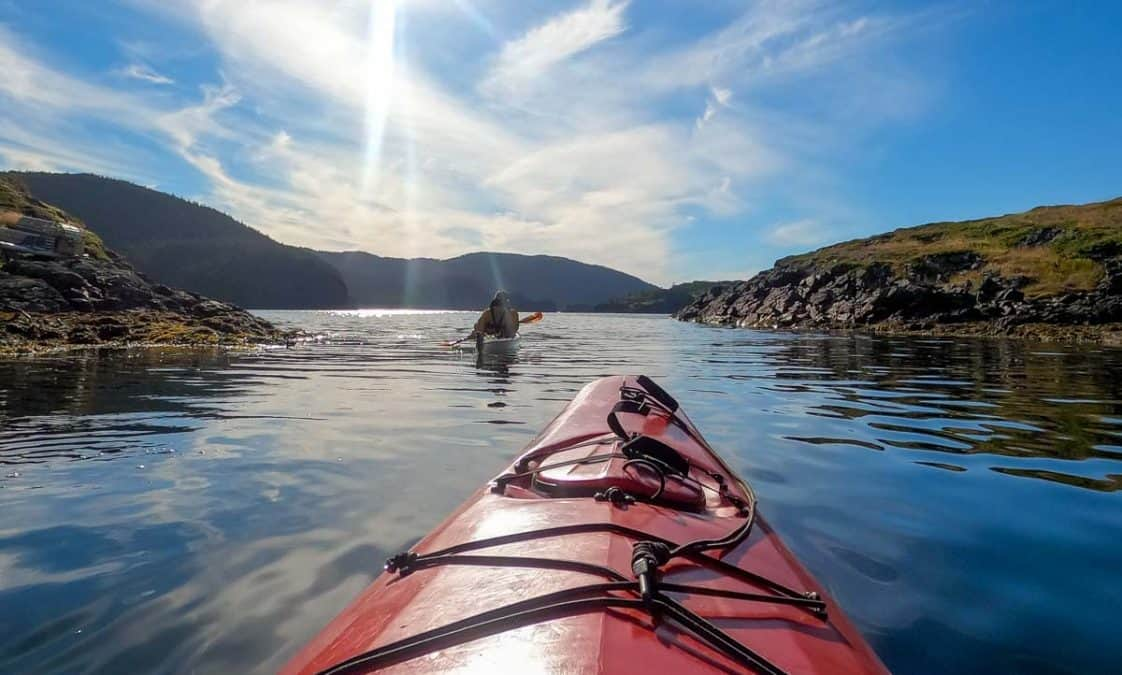 sea kayaking bay of exploits newfoundland