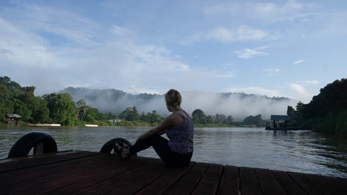 the Kinabatangan River borneo malaysia