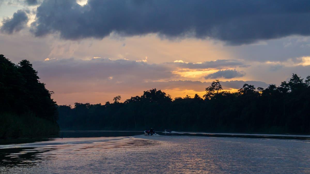 Sunset on the Kinabatangan River
