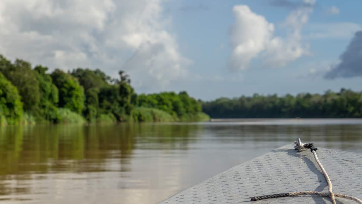 boat on the kinabatagan river