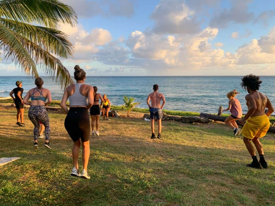 fitness class in barbados