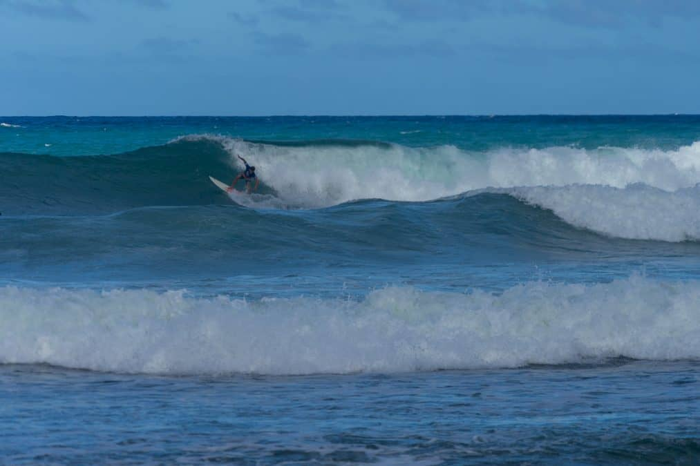 Surfers at Soup Bowl Barbados