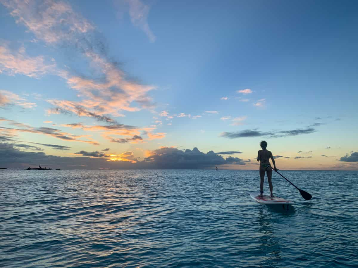 lora on sup in barbados
