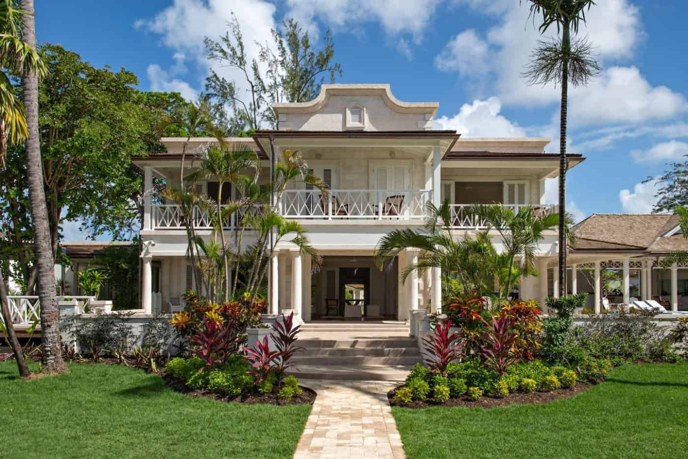 neoclassiical beachfront estate