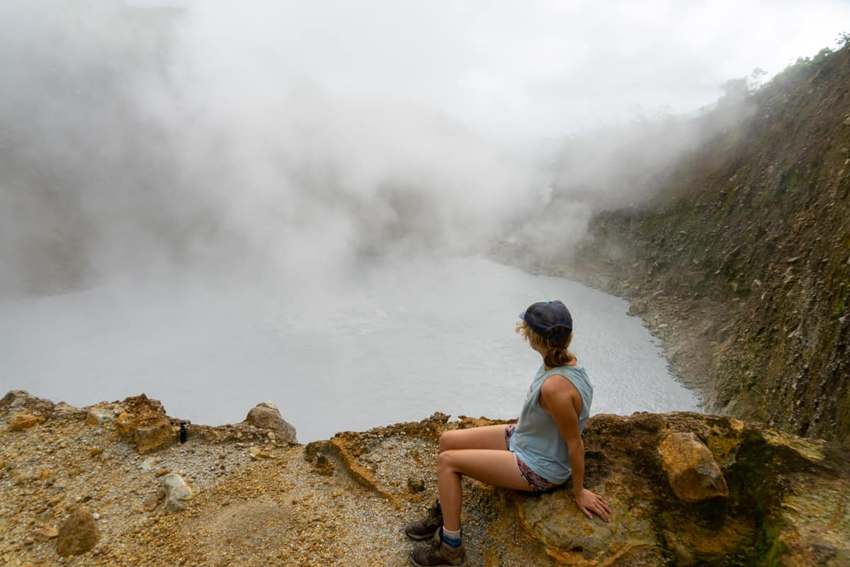 looking over boiling lake dominica