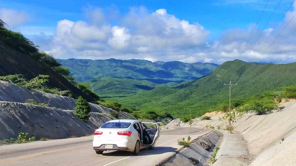 car driving in dominican republic