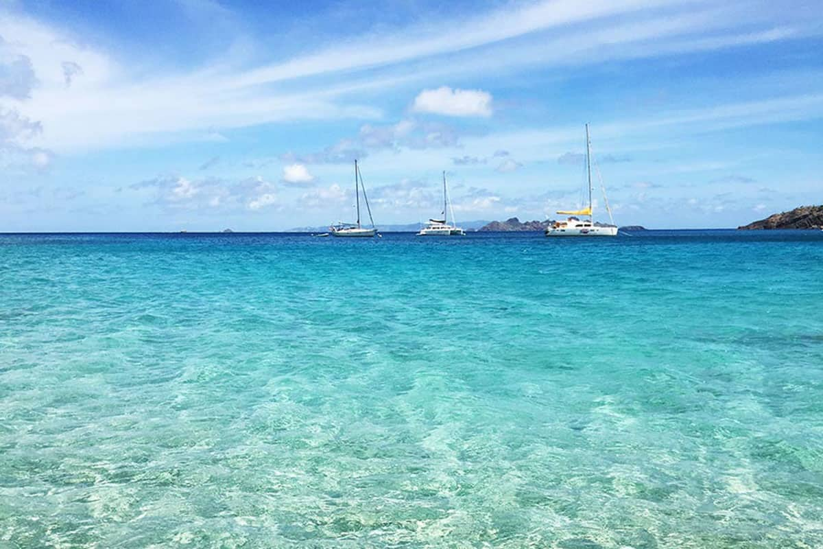 turquoise water in st. barth