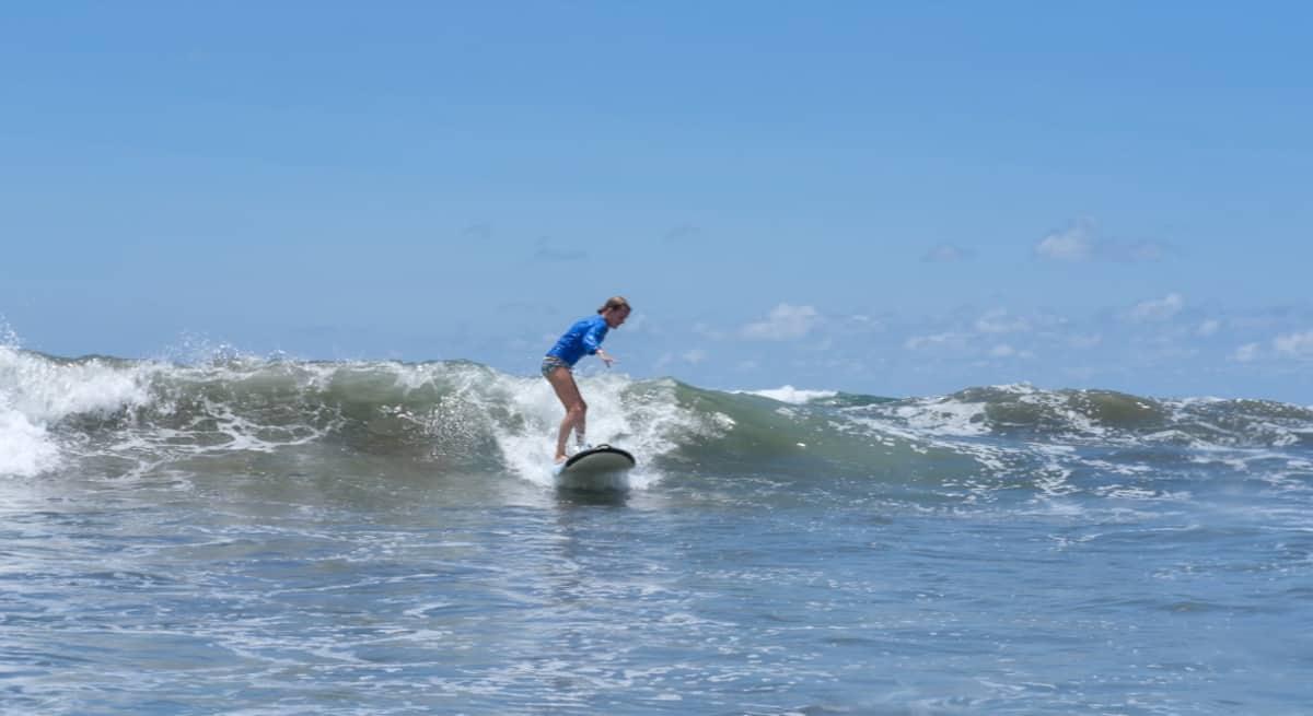 lora surfing on wave
